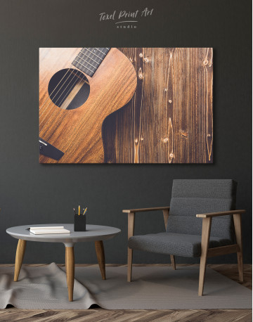 Old Wooden Guitar Canvas Wall Art - image 3