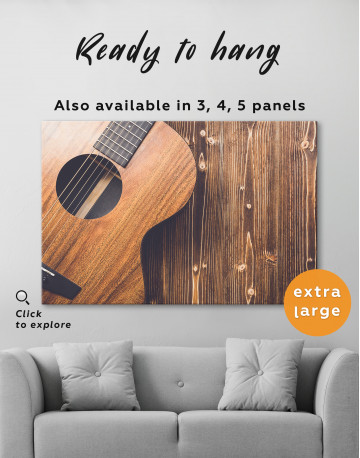 Old Wooden Guitar Canvas Wall Art - image 2