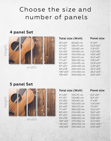 Old Wooden Guitar Canvas Wall Art - image 9