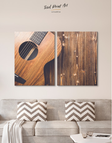 Old Wooden Guitar Canvas Wall Art - image 8
