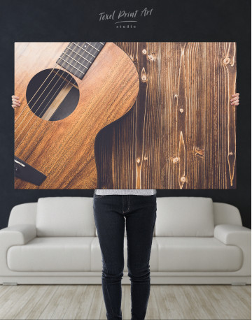 Old Wooden Guitar Canvas Wall Art - image 6