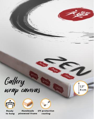 Enso Zen Circle Style Canvas Wall Art - image 5