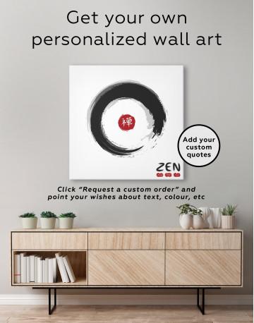 Enso Zen Circle Style Canvas Wall Art - image 4