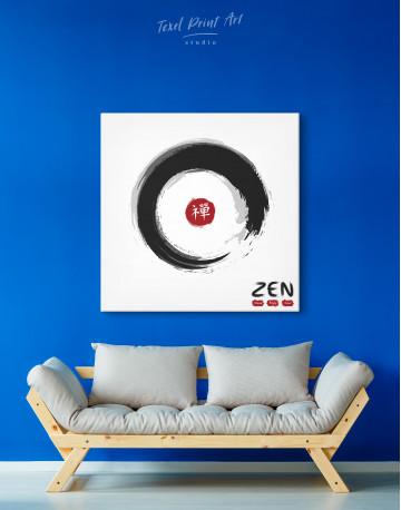 Enso Zen Circle Style Canvas Wall Art - image 3