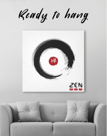 Enso Zen Circle Style Canvas Wall Art