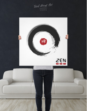 Enso Zen Circle Style Canvas Wall Art - image 6