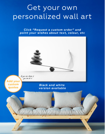 Stone And Feather Balance Canvas Wall Art - image 3