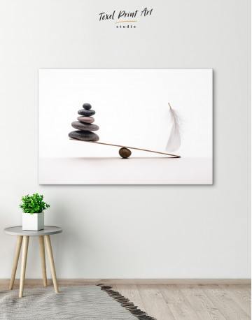 Stone And Feather Balance Canvas Wall Art - image 4