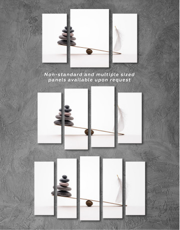 Stone And Feather Balance Canvas Wall Art - image 5