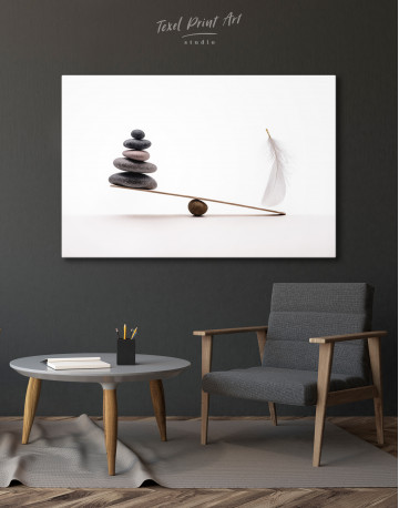 Stone And Feather Balance Canvas Wall Art - image 6