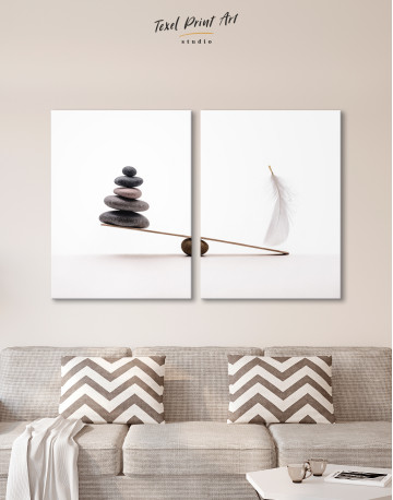 Stone And Feather Balance Canvas Wall Art - image 9