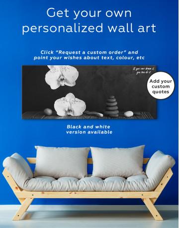 Zen Moth Orchid Canvas Wall Art - image 1