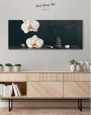 Zen Moth Orchid Canvas Wall Art - image 2