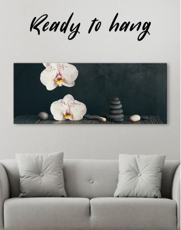 Zen Moth Orchid Canvas Wall Art