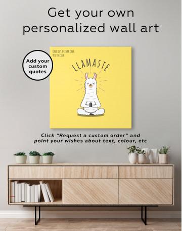 Llamaste Canvas Wall Art - image 3