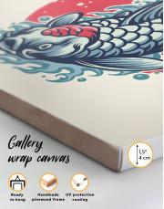 Japanese Carp Painting Canvas Wall Art - Image 5
