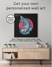 Japanese Carp Painting Canvas Wall Art - Image 4