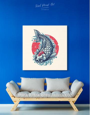 Japanese Carp Painting Canvas Wall Art - image 3