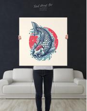 Japanese Carp Painting Canvas Wall Art - Image 6