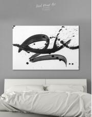 Black Brush Strokes Splashes Canvas Wall Art