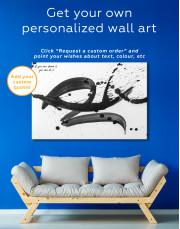Black Brush Strokes Splashes Canvas Wall Art - Image 3