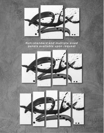 Black Brush Strokes Splashes Canvas Wall Art - image 5
