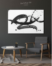 Black Brush Strokes Splashes Canvas Wall Art - Image 6