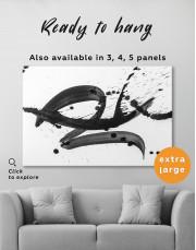 Black Brush Strokes Splashes Canvas Wall Art - Image 7