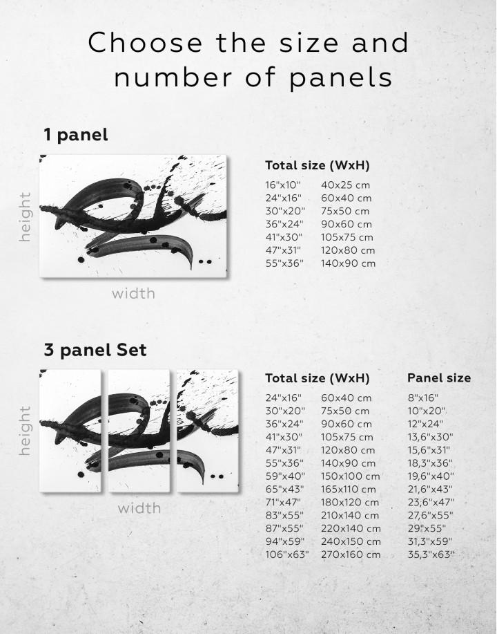 Black Brush Strokes Splashes Canvas Wall Art - Image 8