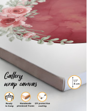 Red Moon with Flower Canvas Wall Art - Image 4