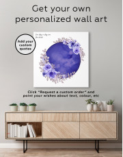 Red Moon with Flower Canvas Wall Art - Image 3