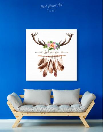 Bohemian Wreath Canvas Wall Art - image 4