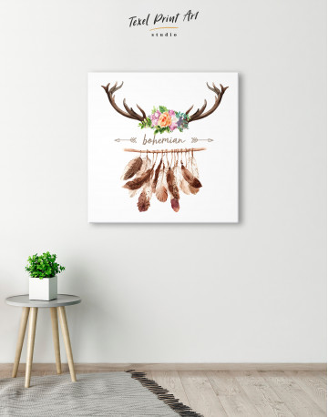 Bohemian Wreath Canvas Wall Art - image 5