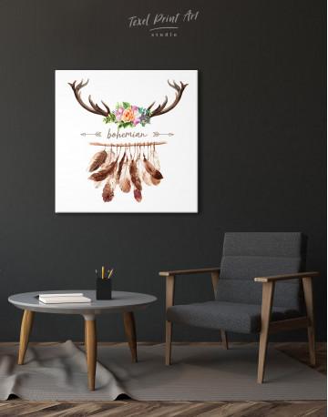 Bohemian Wreath Canvas Wall Art - image 1