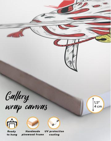 Kitsune Mask Canvas Wall Art - image 4