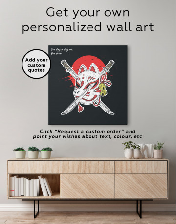 Kitsune Mask Canvas Wall Art - image 3
