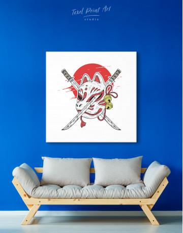 Kitsune Mask Canvas Wall Art - image 2