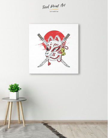 Kitsune Mask Canvas Wall Art - image 1