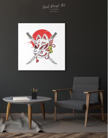 Kitsune Mask Canvas Wall Art - image 5