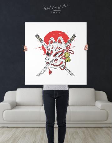 Kitsune Mask Canvas Wall Art - image 6