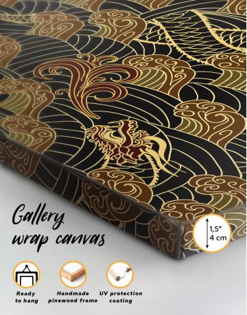 Chinese Dragon Seamless Pattern Canvas Wall Art - image 4
