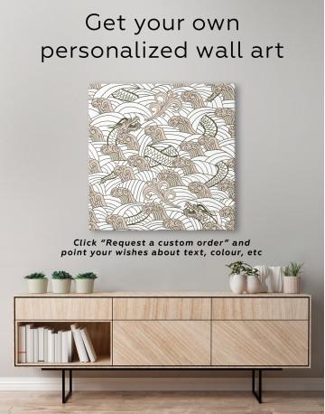 Chinese Dragon Seamless Pattern Canvas Wall Art - image 3