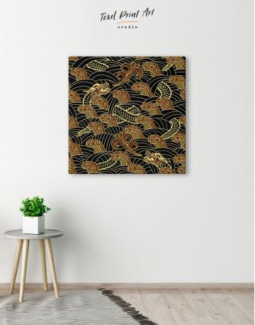 Chinese Dragon Seamless Pattern Canvas Wall Art - image 1