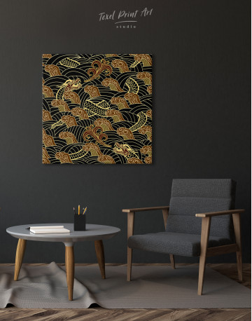 Chinese Dragon Seamless Pattern Canvas Wall Art - image 5