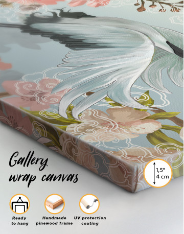 Flying Japanese Crane Canvas Wall Art - image 10