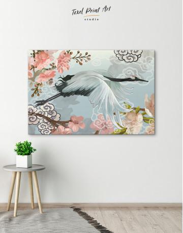 Flying Japanese Crane Canvas Wall Art - image 6