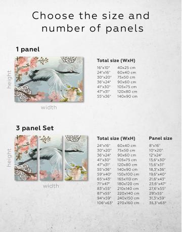 Flying Japanese Crane Canvas Wall Art - image 2