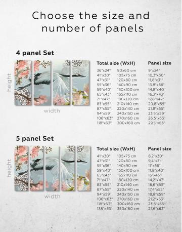 Flying Japanese Crane Canvas Wall Art - image 8