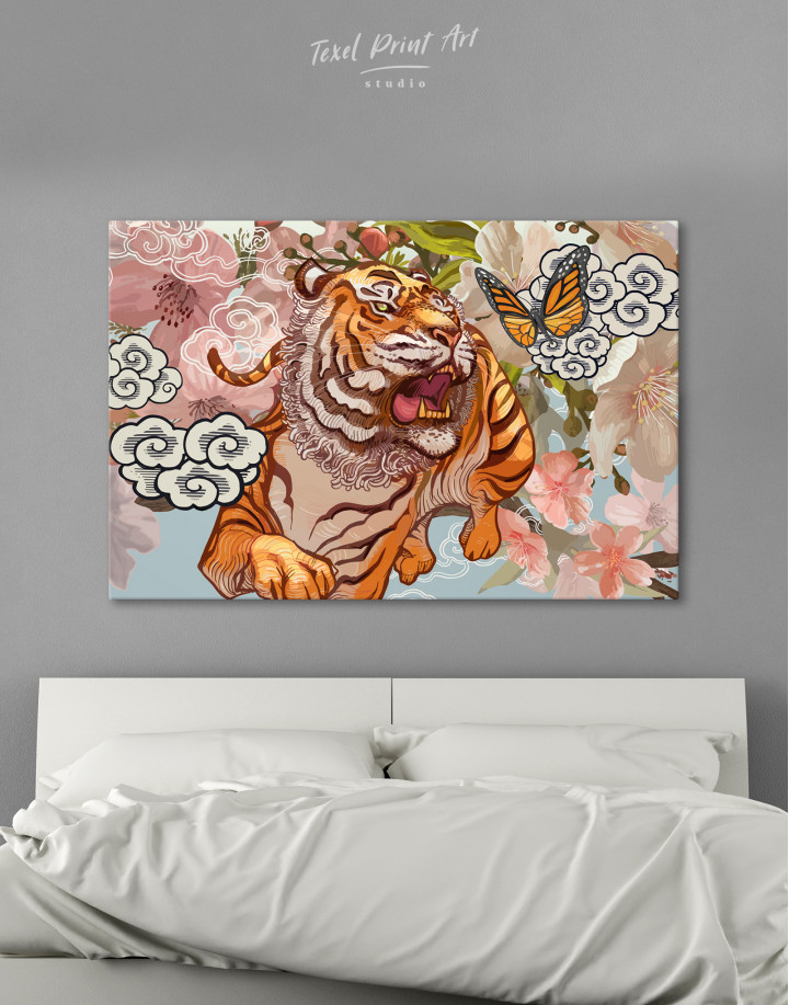 Chinese Tiger Painting Canvas Wall Art
