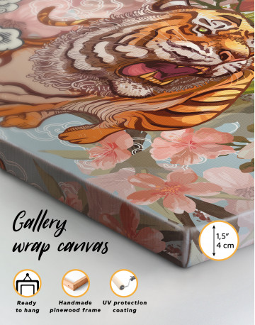 Chinese Tiger Painting Canvas Wall Art - image 2